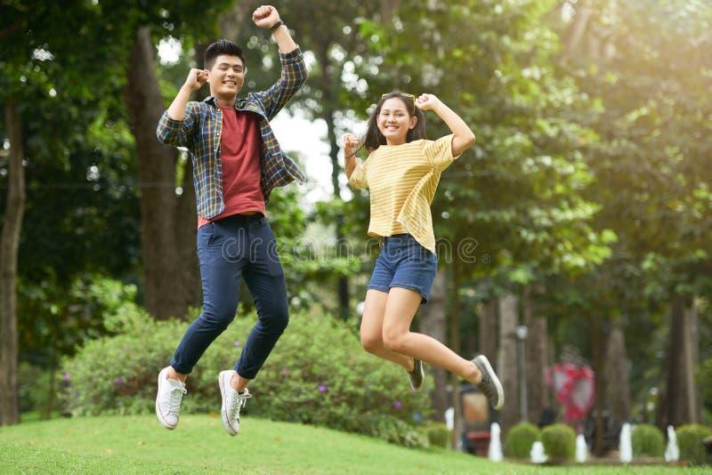 Couples joyeux image stock