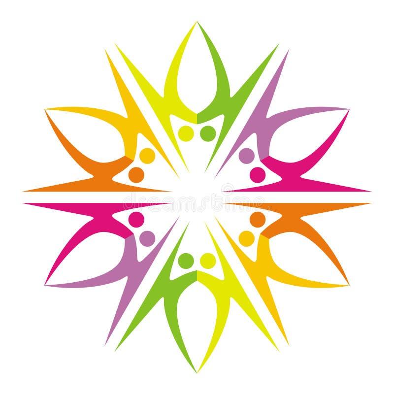 Couples logo. Illustration of couples logo design isolated on white background stock illustration