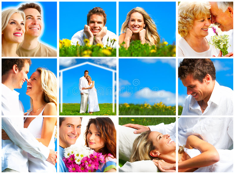 Couples in love. stock photos