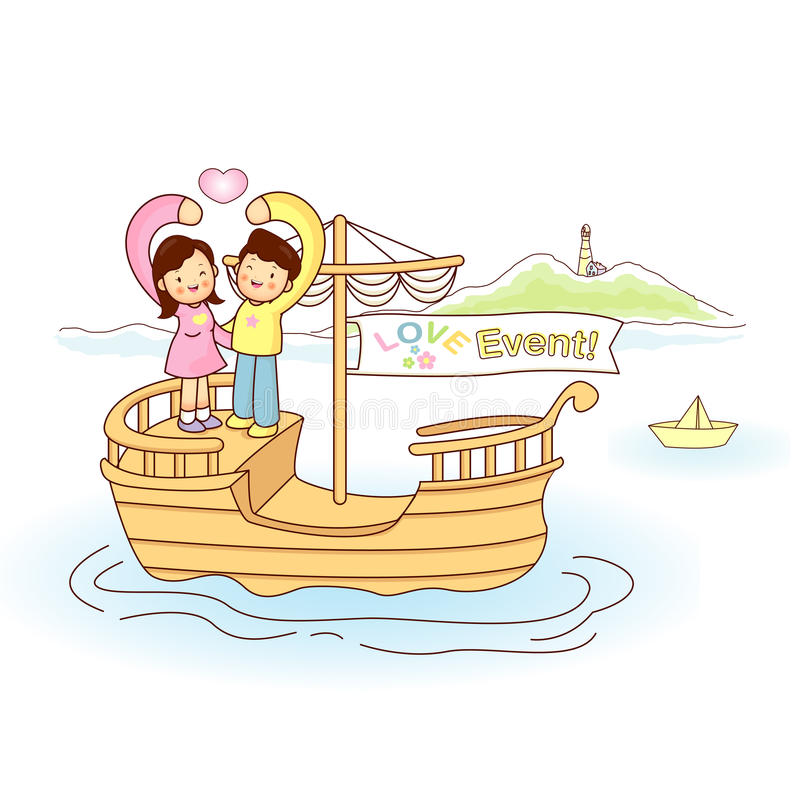 Download Couples love of travel stock illustration. Image of mascot - 26437329