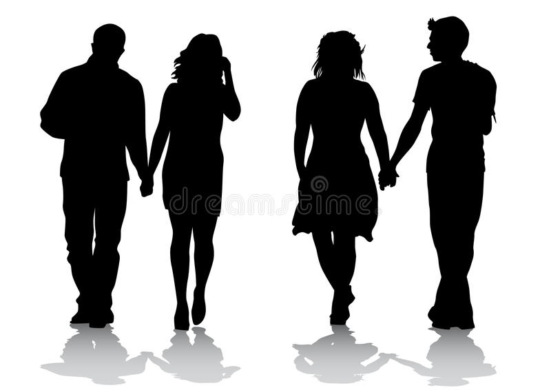 Couples lovers stock illustration