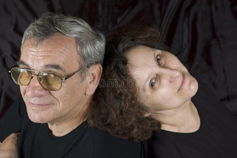 Couples mûris heureux images libres de droits