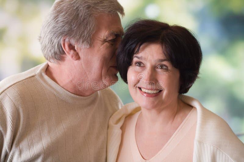 Couples mûrs heureux, extérieurs image stock