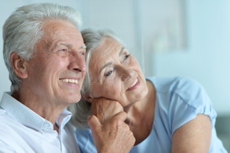 Couples mûrs heureux photo stock