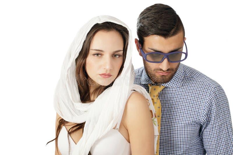 Couples mal adaptés photos libres de droits