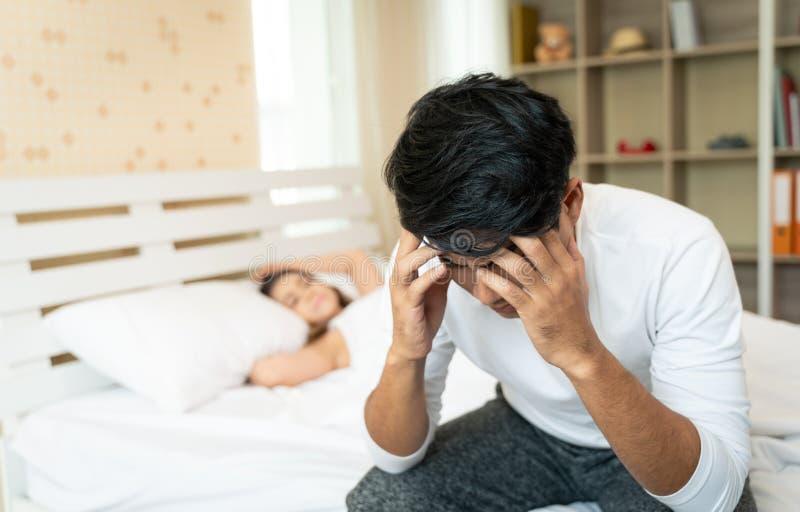 Couples malheureux de famille ayant le conflit photographie stock libre de droits
