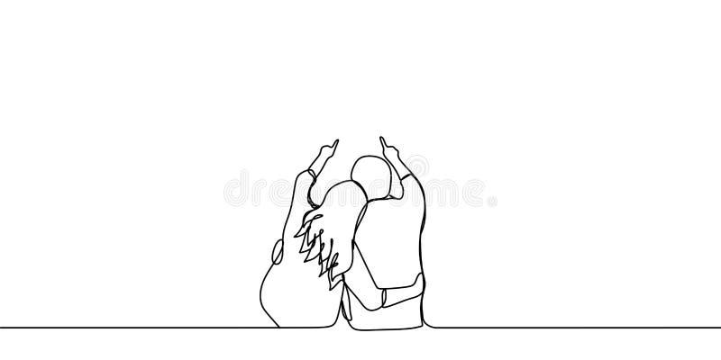 Une Ligne Couple 2 Illustration Stock Illustration Du