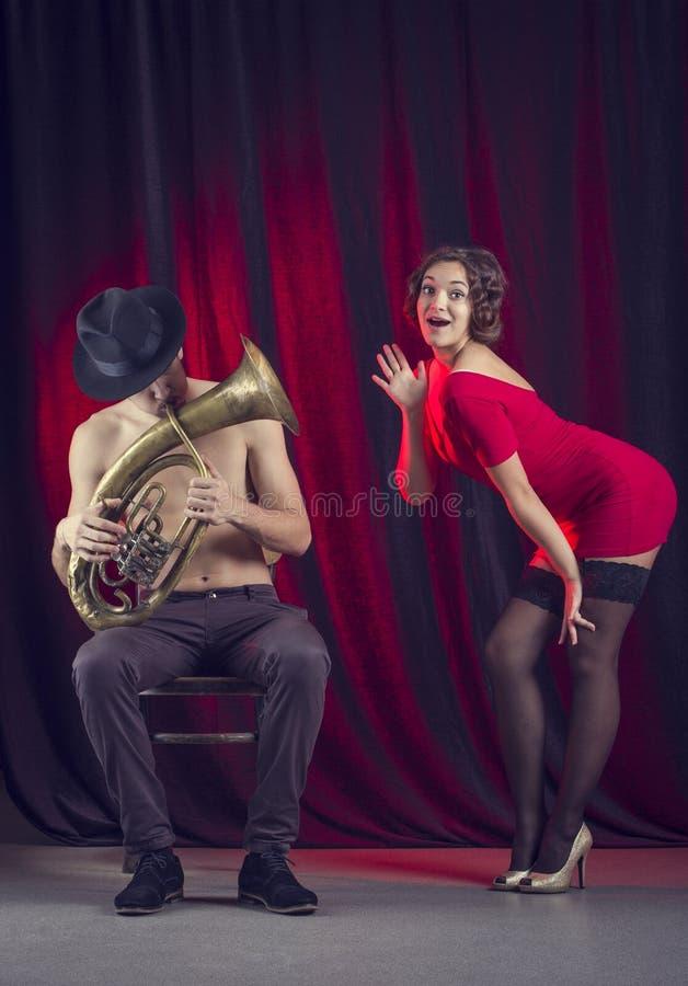 Couples musicaux. photographie stock libre de droits