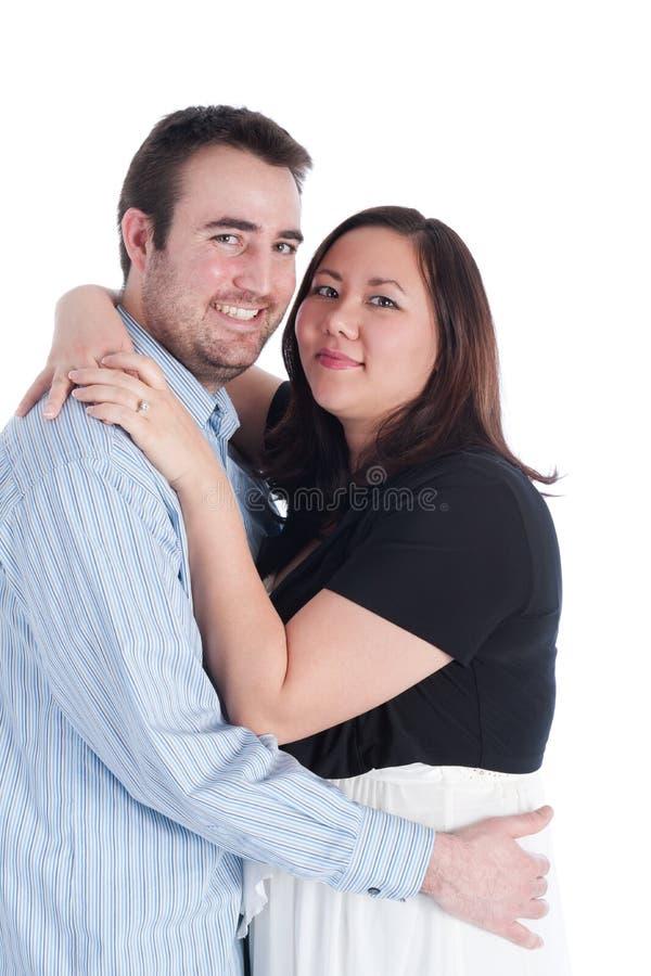 Couples neuf engagés images stock