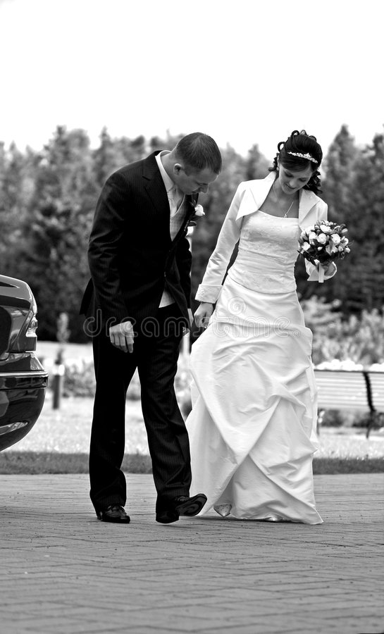 Couples nuptiales photographie stock