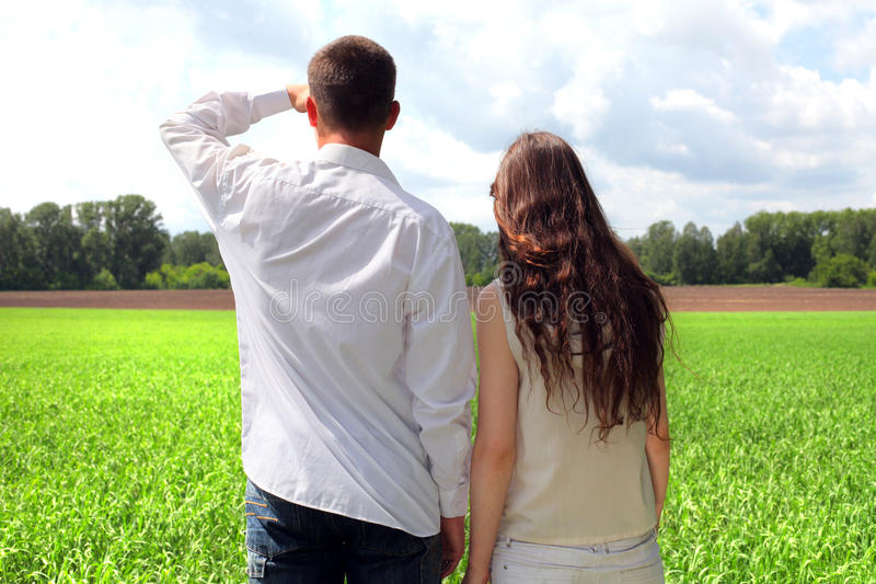 Download Couples outdoor stock photo. Image of happiness, clouds - 23524542