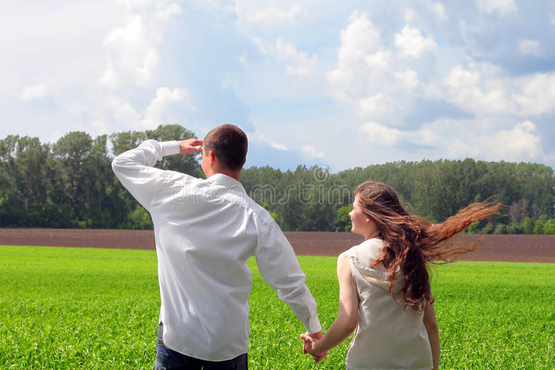 Download Couples outdoor stock photo. Image of near, cute, meadow - 23524588