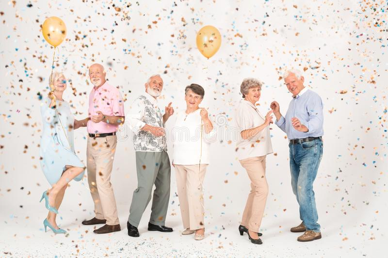 Couples at the party royalty free stock images