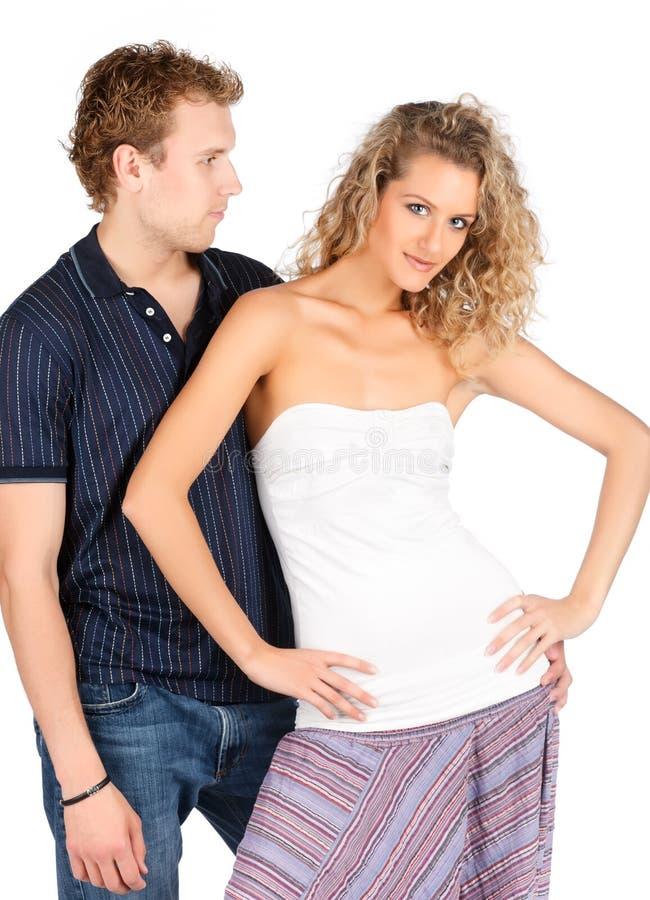 Couples passionnés. image libre de droits