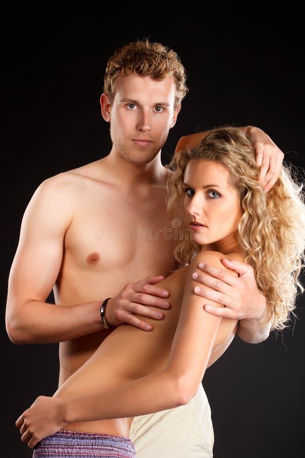 Couples passionnés. image stock