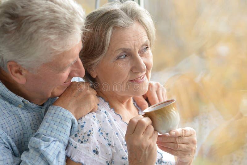 Couples pluss âgé gentils photos libres de droits