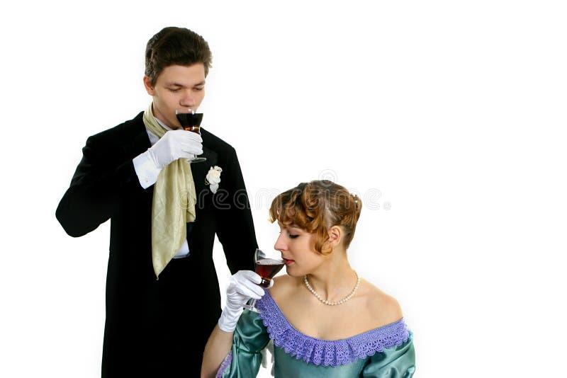 Couples potables images libres de droits