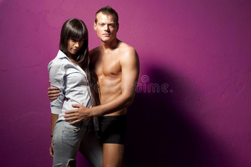 Couples pourprés photographie stock