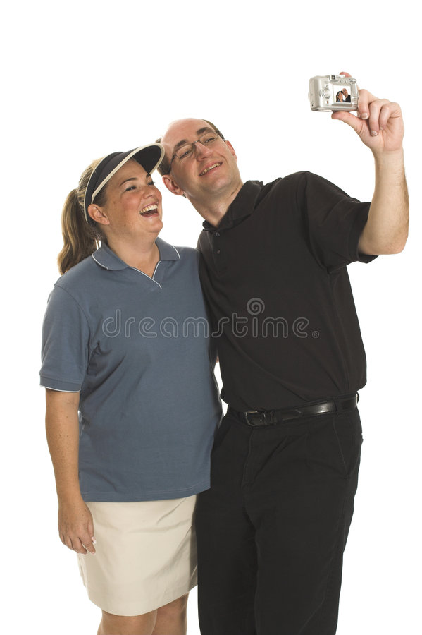 Couples prenant des photos images stock