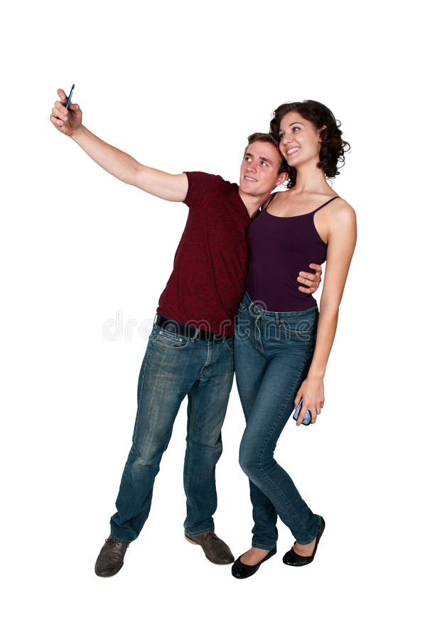 Couples prenant un selfie photo libre de droits
