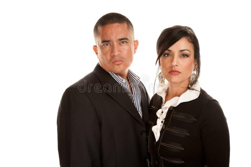Couples professionnels hispaniques image libre de droits