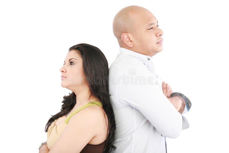 Couples restant de nouveau au dos image libre de droits