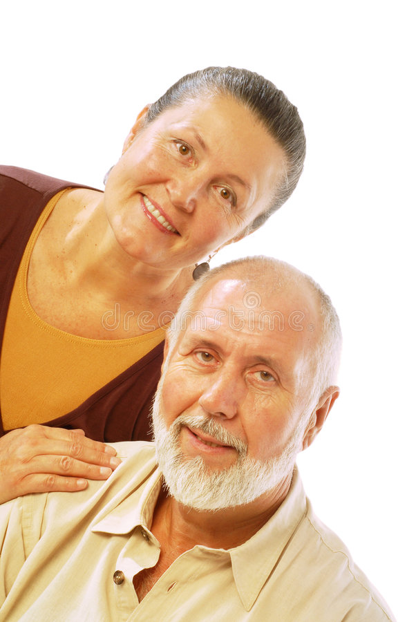 Couples retirés heureux images libres de droits