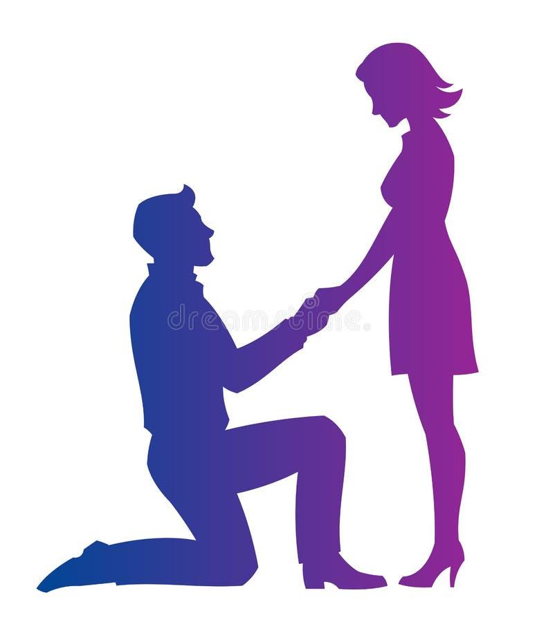 Couples romantiques illustration libre de droits
