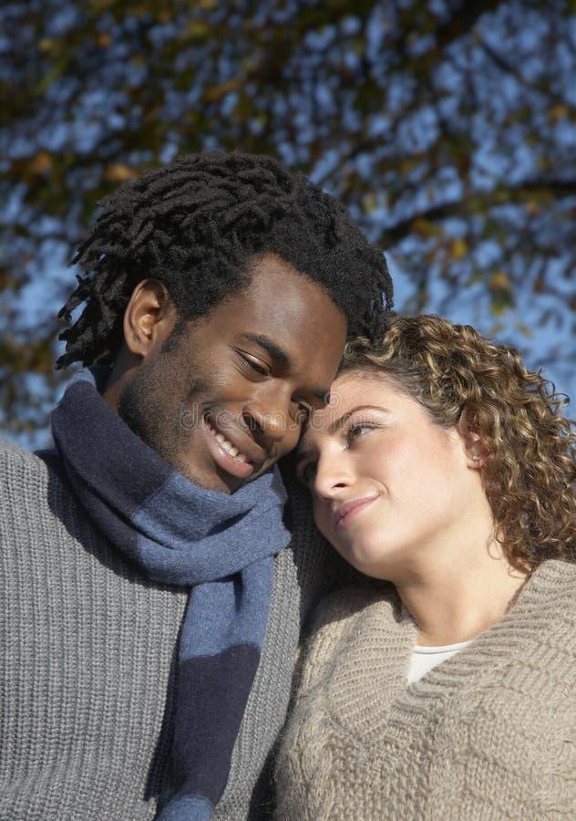 Couples romantiques au parc images libres de droits