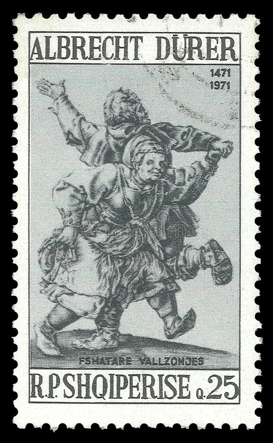 Couples ruraux de danse par Albrecht Durer illustration libre de droits