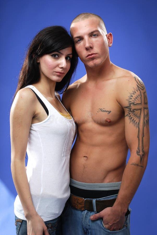 Couples sérieux images stock