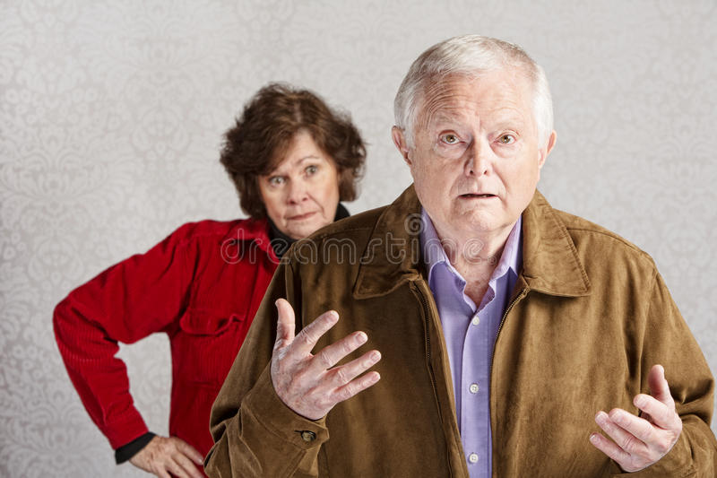 Couples se querellants photo stock