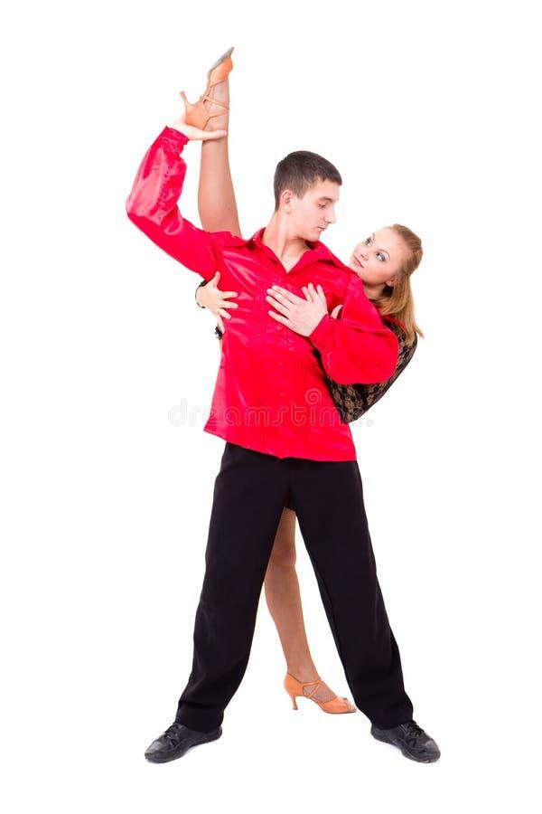 Couples sensuels de danse de Salsa photo stock