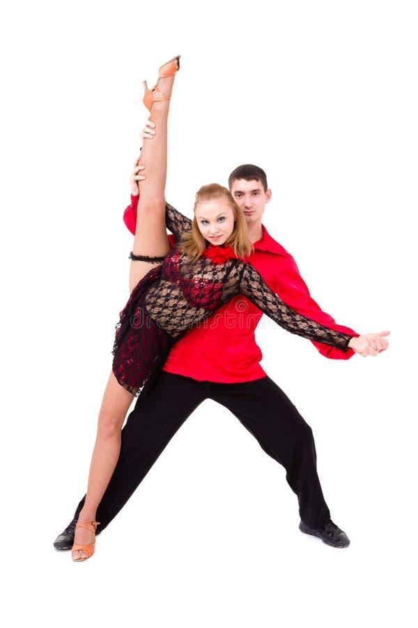 Couples sensuels de danse de Salsa photo libre de droits