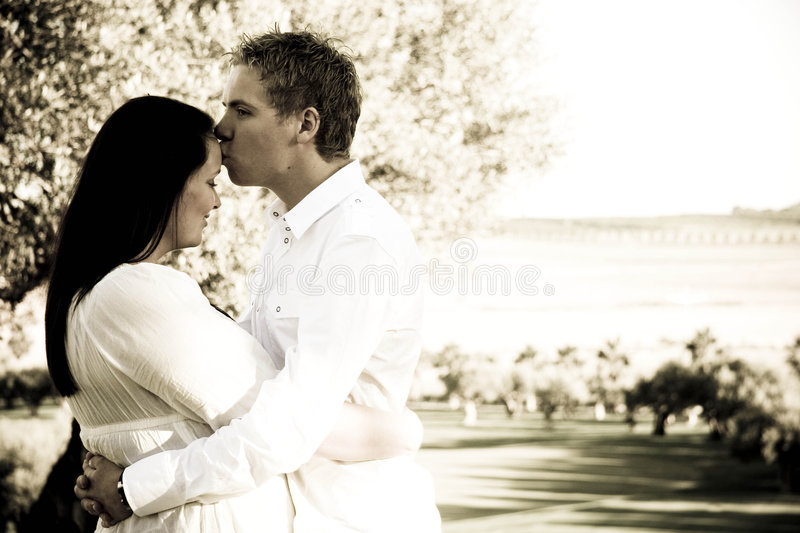Couples sereins images stock