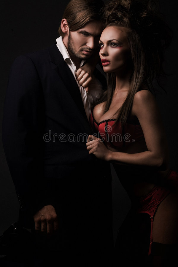 Couples sexy attrayants images stock