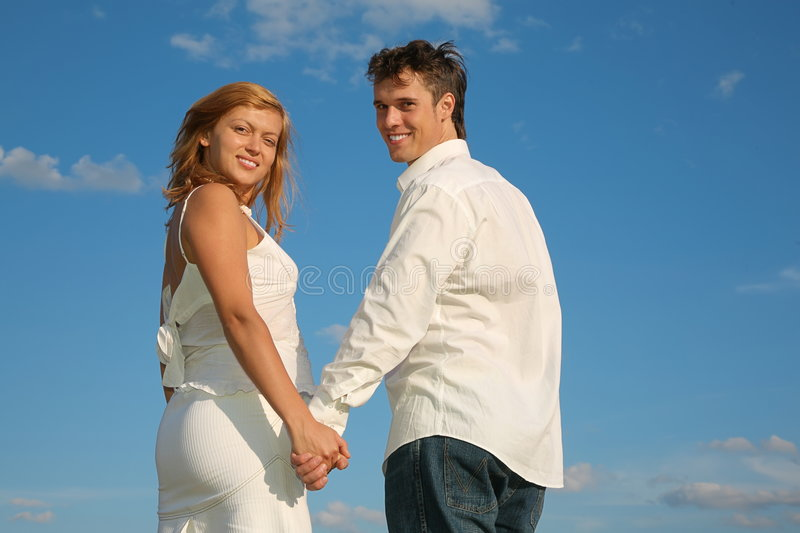 Couples souriants photographie stock