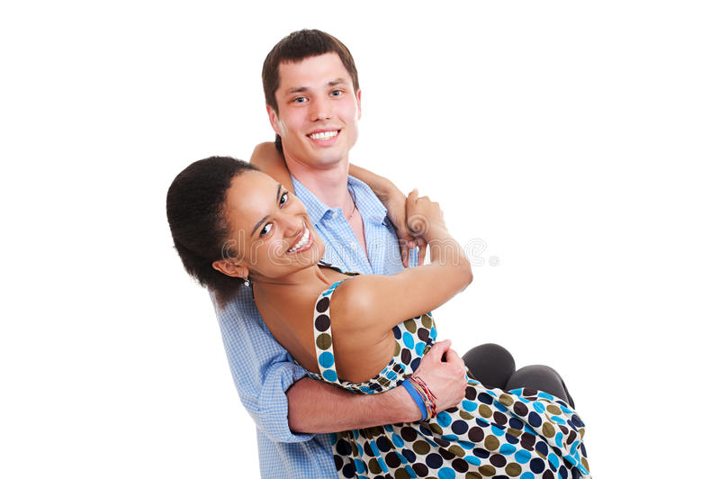 Couples souriants heureux image stock