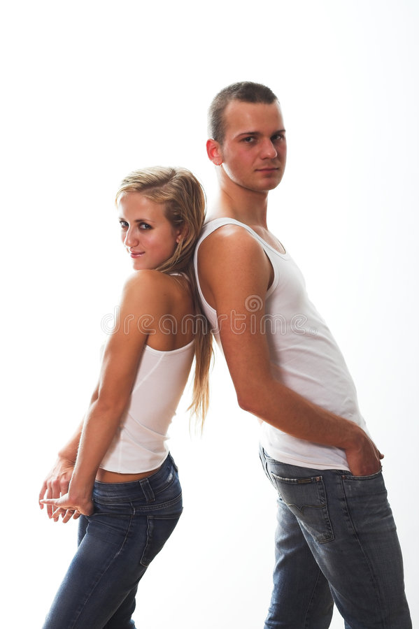 Couples sportifs image stock