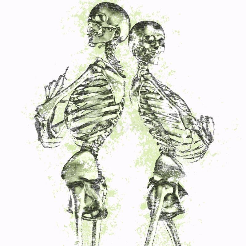 Couples squelettiques sales illustration de vecteur