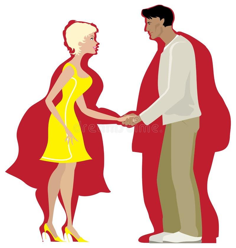 Couples suivants un régime illustration de vecteur