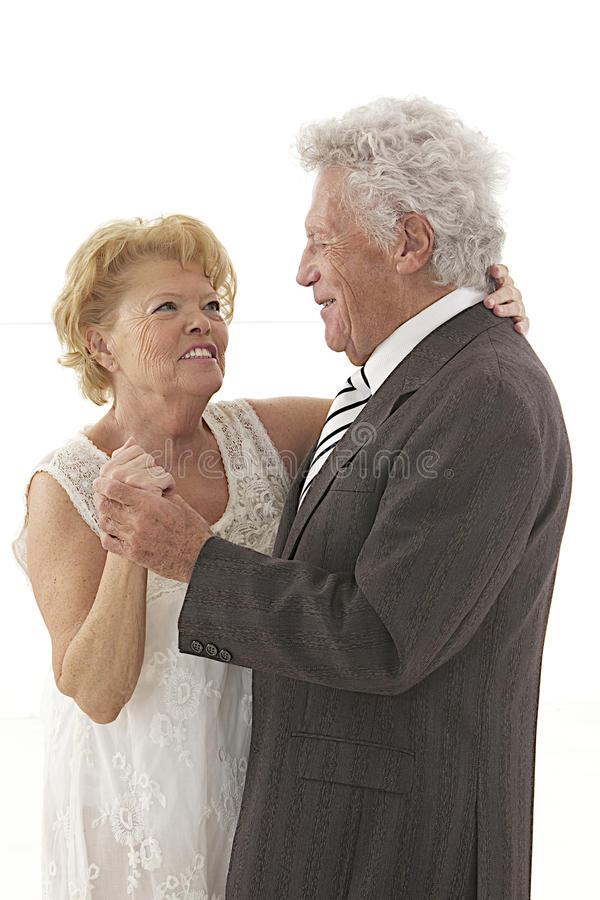 Couples supérieurs de danse photo libre de droits