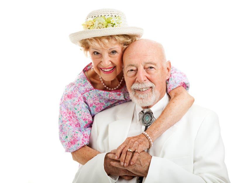 Couples supérieurs du sud doux photographie stock libre de droits