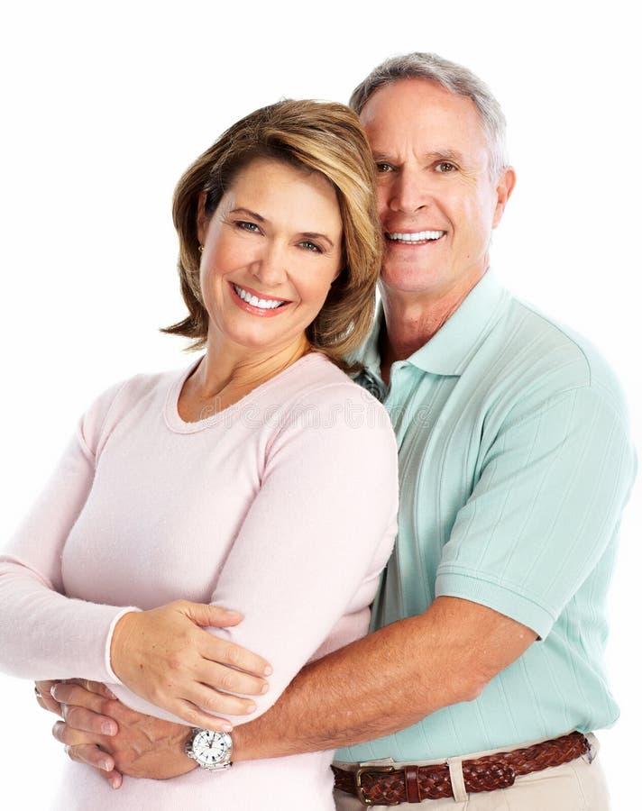 Couples supérieurs heureux dans l'amour. images libres de droits