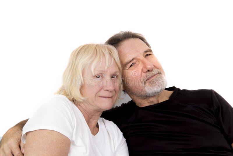 Couples supérieurs sains photo stock