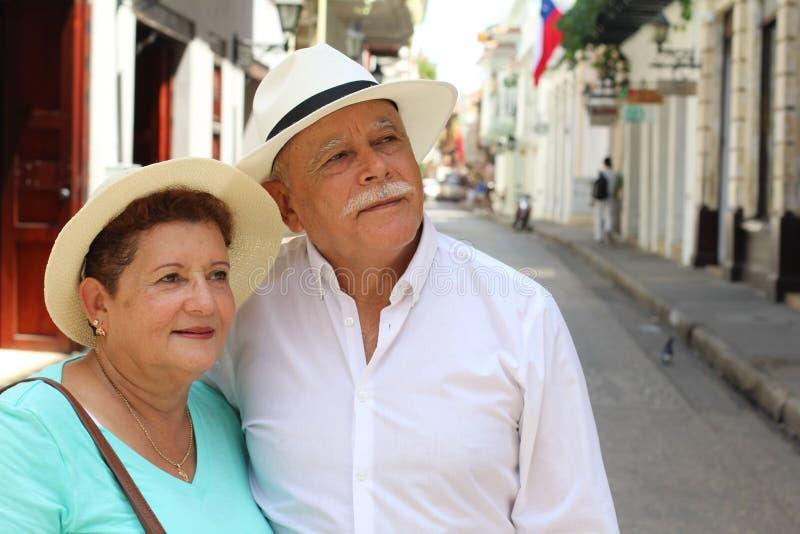 Couples supérieurs vivant un roman photo stock