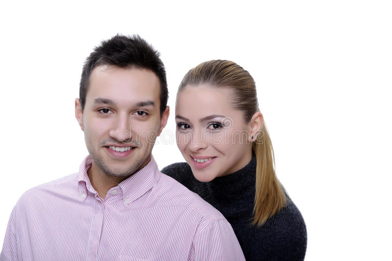 Couples sur le blanc image stock