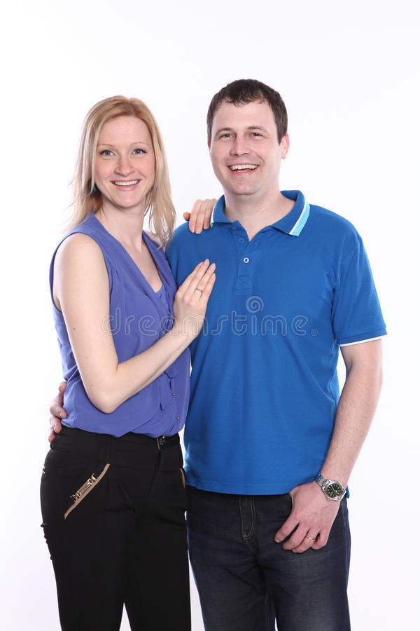Couples sur le blanc photo stock