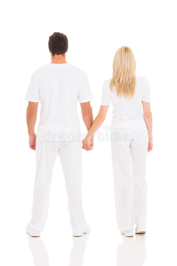 Couples tenant des mains images stock