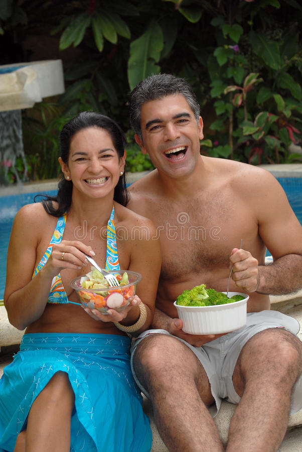Couples tropicaux. images libres de droits